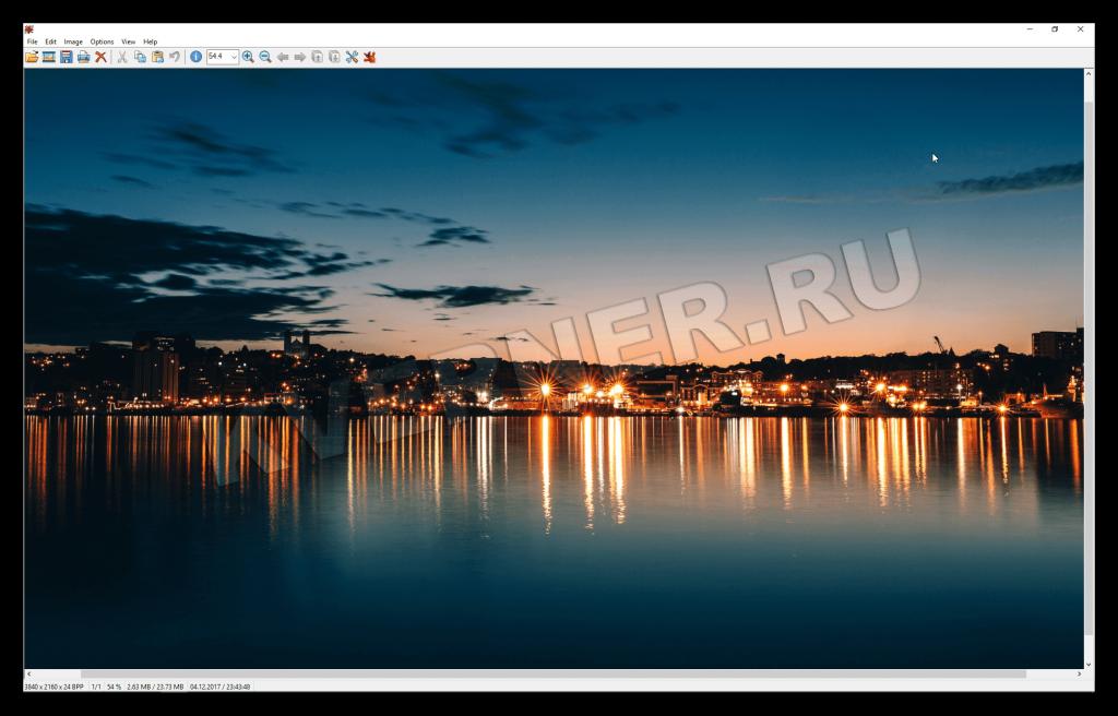 Программа для обработки изображений. Возможности программы немного схожи с классическими фоторедакторами.